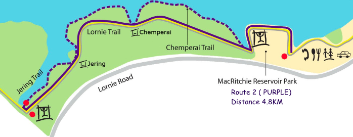 Cropped map of Macritchie